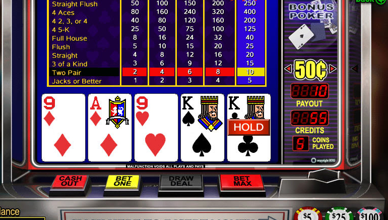 On-line video poker zdarma